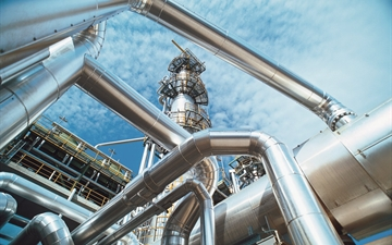 View Pipes of industrial plant.